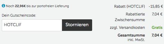 12er Pack Clif Bar Energie Riegel + gratis Abnehm Guide als PDF für 7€ (statt 22€)