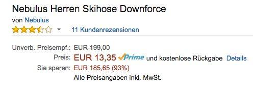 Bildschirmfoto 2016 06 29 um 11.04.56 Fehler? Nebulus Herren Skihose Downforce ab 13,35€ (statt 48€)