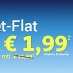o2 Smart Surf mit 50 Min, 50 SMS & 1GB für eff. 1,99€ monatlich