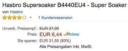 Hasbro Super Soaker Tidal Torpedo Wasserpistolen Bogen ab 6,44€ (statt 18€)