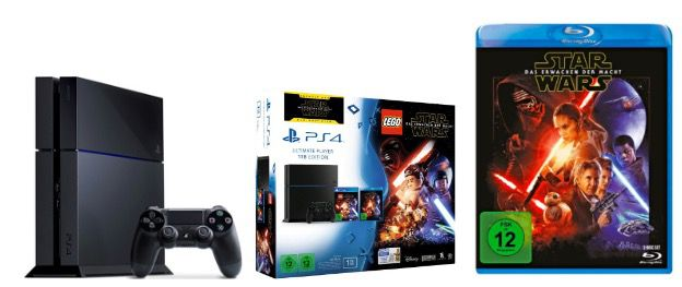 Playstation 4 1TB CUH 1216B + Lego Star Wars + Star Wars Film für 249€ (statt 325€)