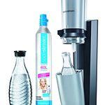 SodaStream Crystal + 2 Glaskaraffen + 60L Zylinder für 84,95€ (statt 99€)