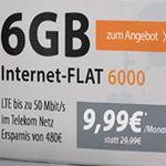 Telekom 6GB LTE Flat für 9,99€ mtl. oder 3GB für 6,99€mtl.