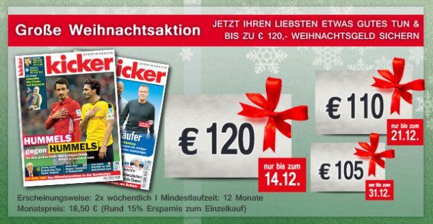 Bildschirmfoto 2016 12 07 um 11.30.17 Kicker Jahresabo (104 Ausgaben) für 112€ (statt 222€)