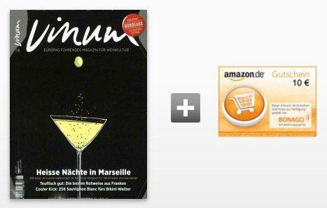 3 Ausgaben VINUM Weinmagazin für 12,69€ inkl. 10€ Gutschein oder Verrechnungsscheck