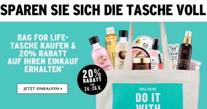 Body Shop Bag of Life The Body Shop: 20% Rabatt auf alles beim Kauf einer Bag for Life