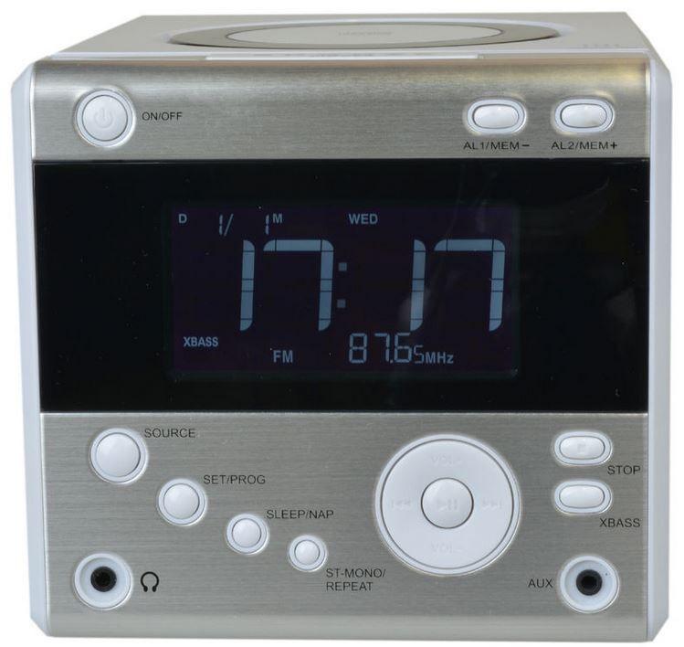 CDR 224 Radio Musik Wecker CDR 224   Stereo Uhrenradio mit CD Player für 14,90€