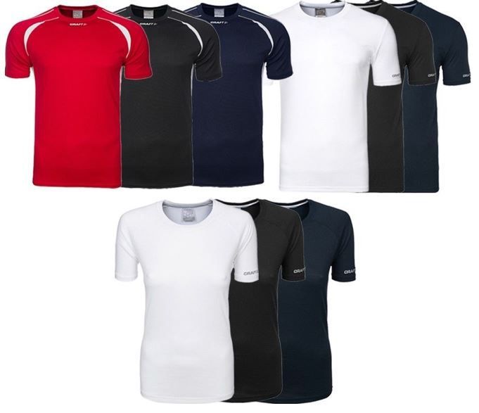 CRAFT Funktions Sportshirts für Damen und Herren (L, XL) für je 1,99€