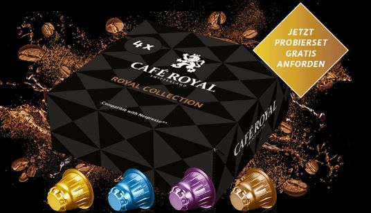 Kostenloses Café Royal Probierset für Nespresso Systeme