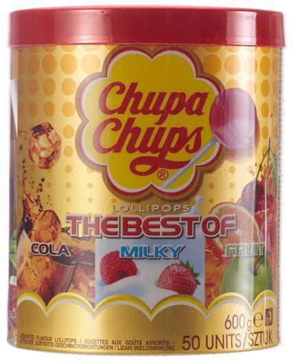 Chupa Chups Best of Lutscher Dose mit 50 x 12g ab 8,76€