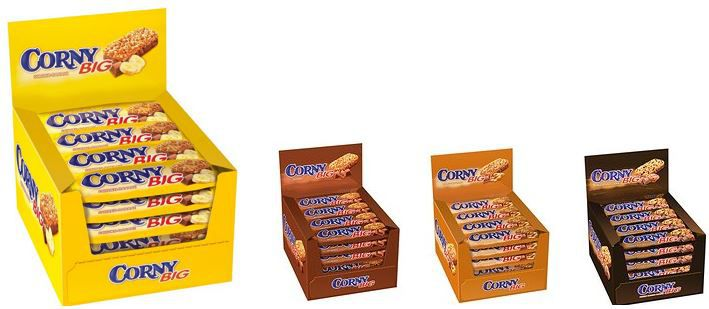 Corny Big Corny Müsliriegel im 24er Pack (1.2 kg) ab 9,59€