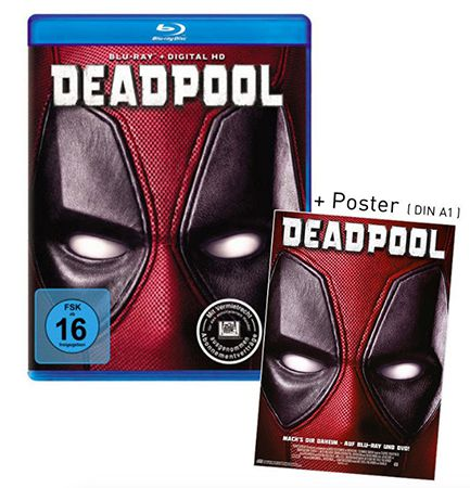 Deadpool Blu ray + DIN A1 Poster für 15,99€
