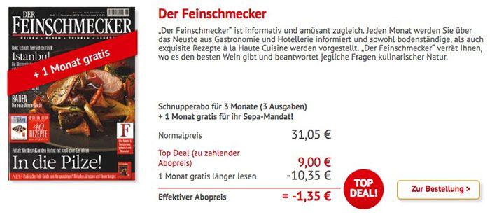Der Feinschmecker 4 Monate Der Feinschmecker für 9€ (statt 41,40€)