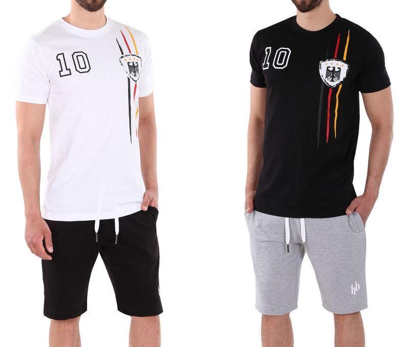 EM Fan Trikott Hoodboyz Herren EM Set: T Shirt + Short  S bis 2XL für nur 22,90€