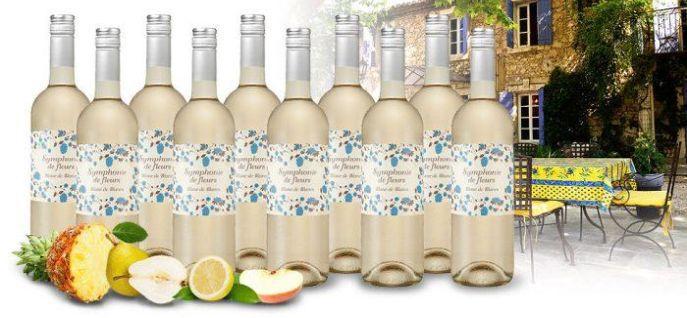 Fleurs Blanc 10 Flaschen Symphonie de Fleurs Blanc de Blancs für nur 39,90€