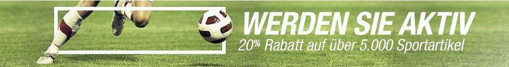 Fußball Gutschein 20% auf ausgewählte Sportartikel bei Amazon   z.B. Helly Hansen Sporttasche für 72€ (statt 86€)