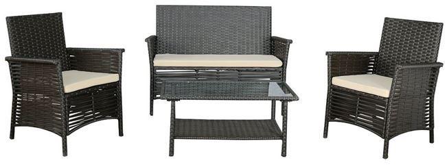 GARTENFREUDE Lounge Polyrattan Sitzgruppe 7 teilig für nur 199,99€ (statt 303€)