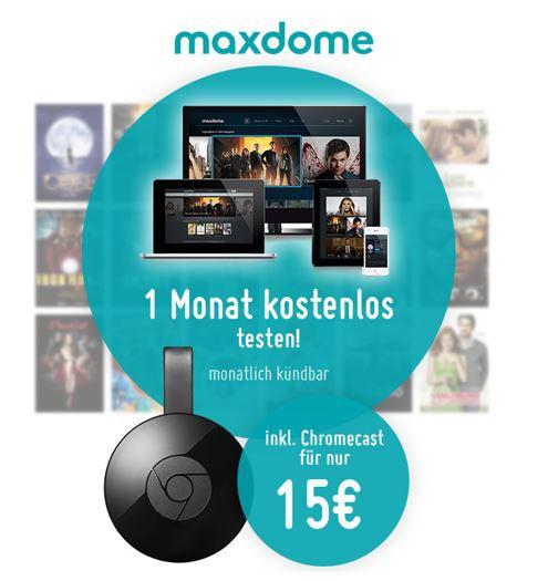 Google Chromecast 2 Promo Google Chromecast 2 Promo + 1 Monat Maxdome statt 43€ für nur 15€ HOT!