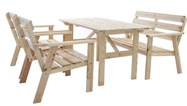 Hamko Gartengruppe HANKO   Massivholz Garten Loungegruppe für nur 129,43€