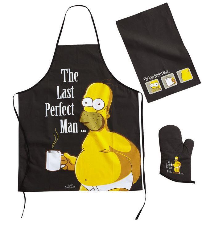 Homer Grillset Homer Simpson: The Last Perfect Mann Grillschürze und Zubehör ab 11,95€