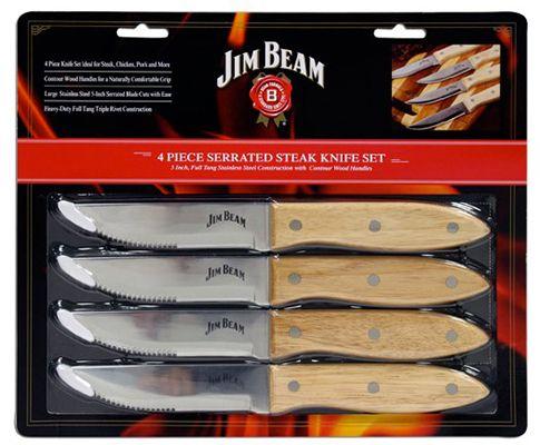Jim Beam Grillbesteck Jim Beam Grillbesteck Steakmesserset 4 teilig für 12,99€ (statt 17€)