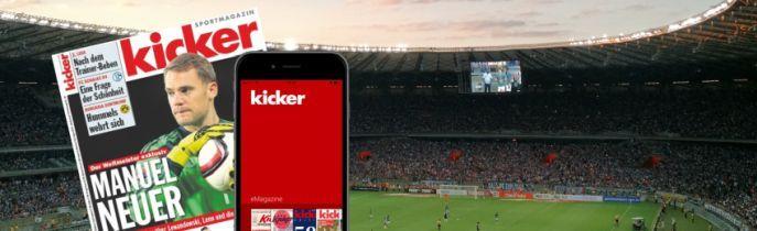 Jahresabo Kicker digital komplett gratis   endet automatisch!