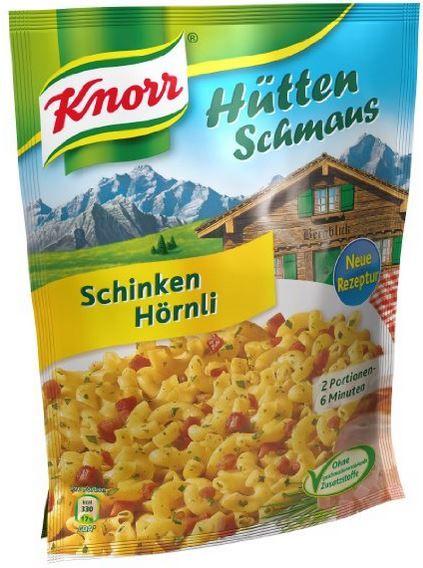 Knorr Hüttenschmaus Knorr Hüttenschmaus mit Schinken Hörnli (5 x 500 ml) ab nur 7,99€ + Grillsaucen mit 30% Rabatt