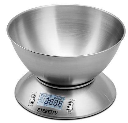 Etekcity Edelstahl Küchenwaage mit 2,15 Liter Schale für 16,78€ (statt 27€)