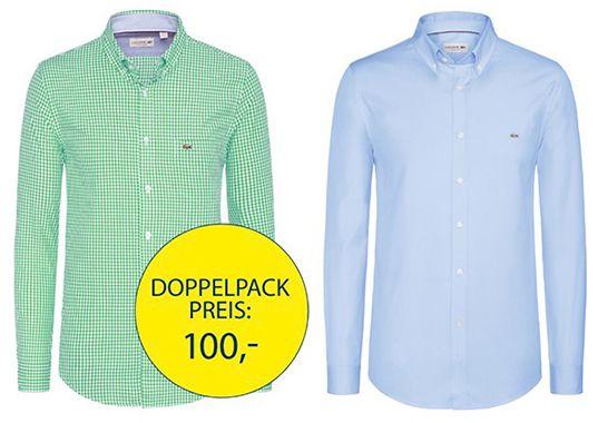 Lacoste Freizeithemden 2er Pack Lacoste Freizeithemden für 90€ (statt 130€)