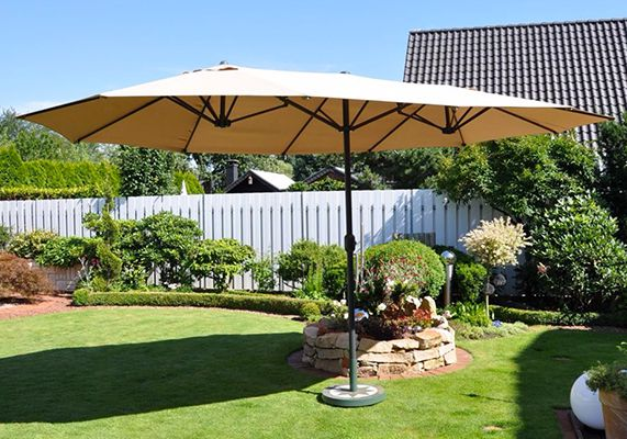 Leco Sonnenschirm 270 x 460cm für 86,95€ (statt 110€)