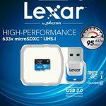 LEXAR 633X – 64GB microSDXC Karte mit Class 10 inkl. USB 3.0 Stick für 15€