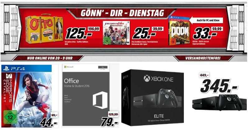 MICROSOFT Xbox One 1TB Elite Bundle Spiele und Filme heute günstig als Media Markt Dienstag Sale: Xbox One 1TB mit Elite Bundle für 345€