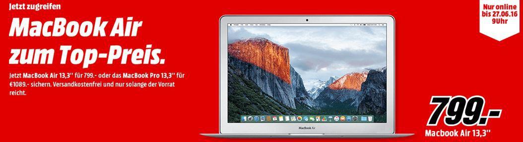 Mac Books zu guten Preisen bis Montag   z.B. MacBook Air 13.3 128 GB für 799€