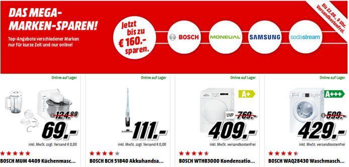 Marken Sparen Media Markt Mega Marken Sparen: z.B. BOSCH MUM 4409 Küchenmaschine für nur 69€