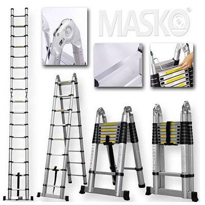 Masko Teleskopleitern   z.B. 3,20m Multi für 85€ (statt 98€)