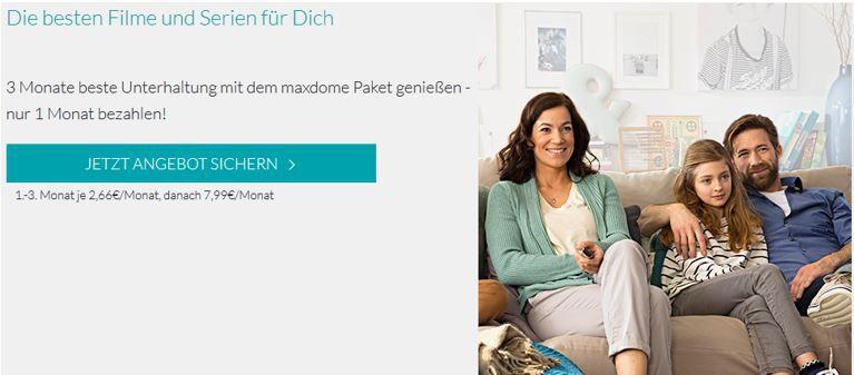 Maxdome   3 Monate statt 23,97€ für nur 7,99€   monatlich kündbar