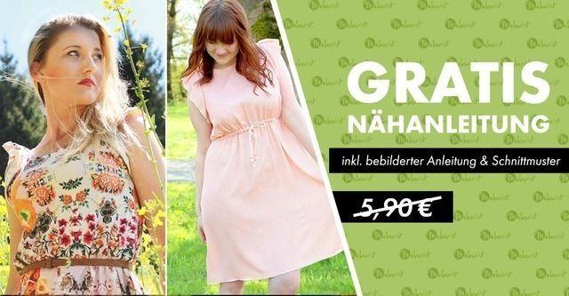 Nähanleitung Kleid Schnittmuster und Anleitung für ein Kleid gratis