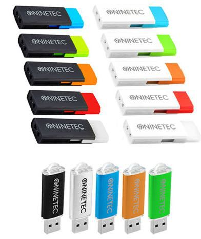 NINETEC Doppelpack 2x 16 GB USB2 Sticks für nur 7,77€