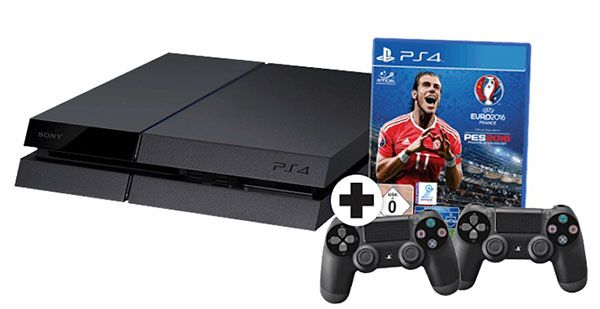 PS4 Bundle Playstation 4 CUH 1216A 500GB + UEFA Euro 2016 + 2. Controller für 299€ (statt 373€)