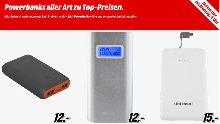 POWERBANK Sale bei MediaMarkt   z.B. REALPOWER PB 4000 für nur 5€
