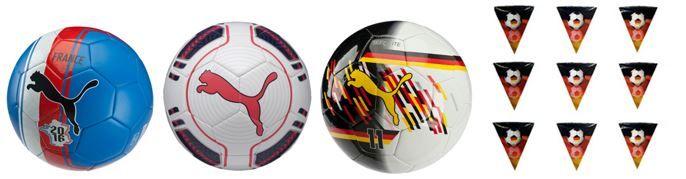 Puma evoPOWER Fußbälle + Deutschland Wimpelkette für je nur 9,95€