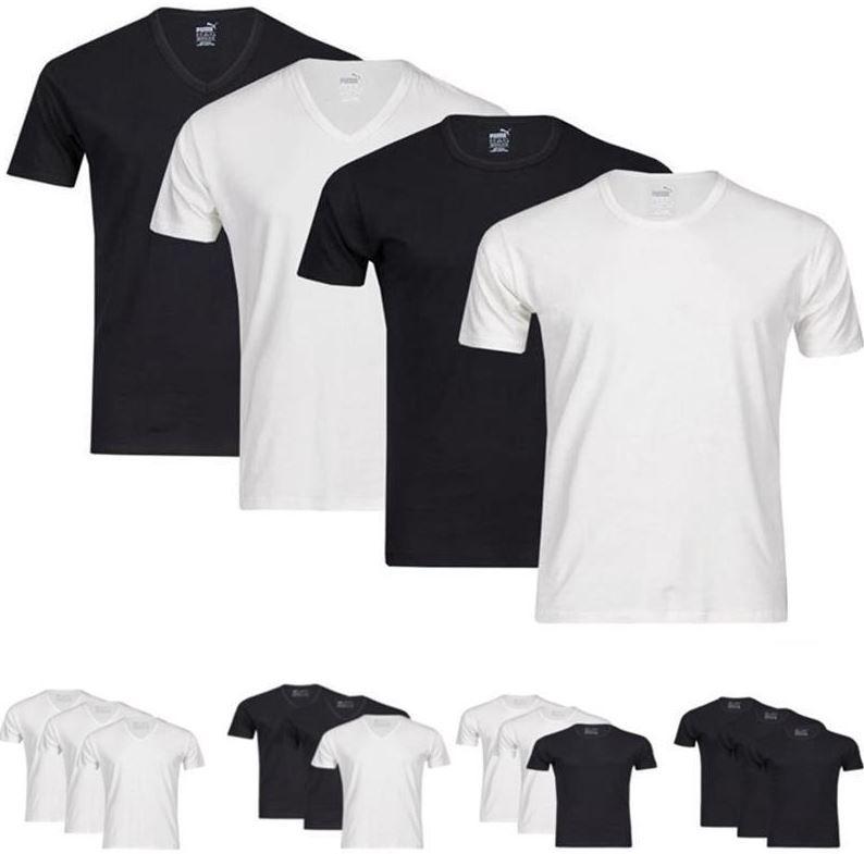 6er Pack Puma Herren V Neck oder Rundhals T Shirts für 34,95€