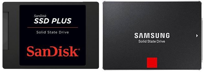 SanDisk SSD Plus 480GB SSD für 96,50€   Samsung Basic 850 Pro 1TB SSD für 334,90€