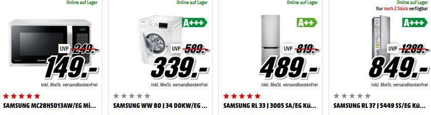 Samsung Kühlschrank Sale Media Markt Mega Marken Sparen: z.B. BOSCH MUM 4409 Küchenmaschine für nur 69€