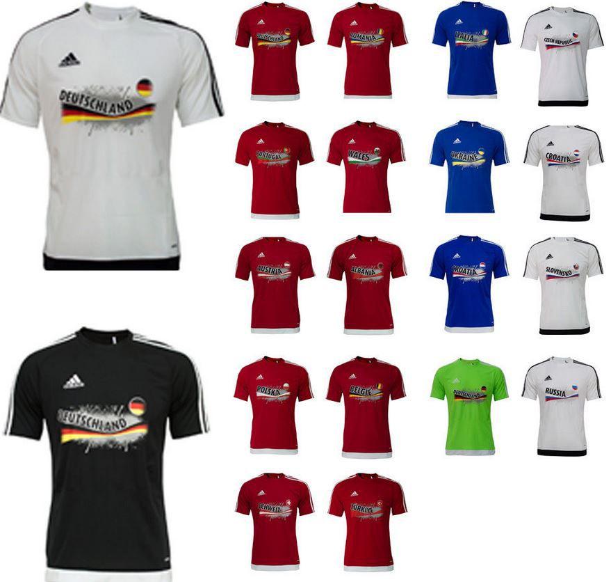 Schland T Shirt adidas Kinder und Erwachsenen EM 2016 Fan T Shirts für je 19,95€