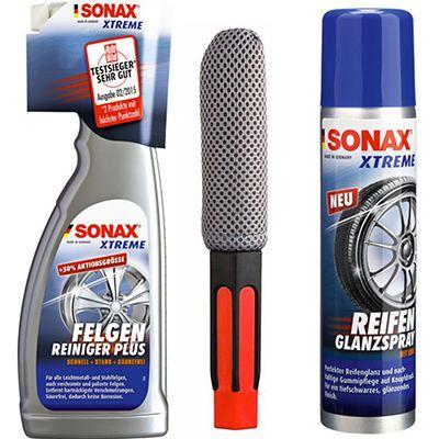 Sonax Xtreme Felgenreiniger Sonax Xtreme Felgenreiniger 750ml + Bürste und 400ml Reifen Glanzspray für 15,90€ (statt 24€)