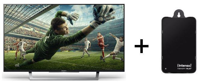 Sony KDL 43WD755   43 Zoll Smart TV mit PVR + IntensoPlay 1TB HDD für nur 430,74€