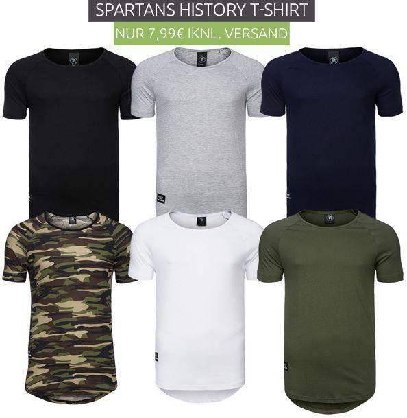 Spartans History Basic Oval   Herren Shirts neue Modelle für je 7,99€