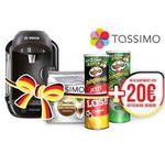 TASSIMO ViVY Maschine +  T Discs Jacobs Latte + 2x Pringles + 20€ Gutschein für 49,99€