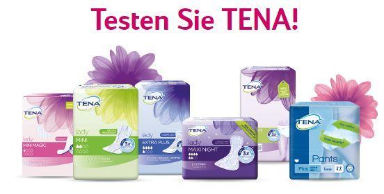Kostenloses Tena Testpaket für Frauen oder Männer